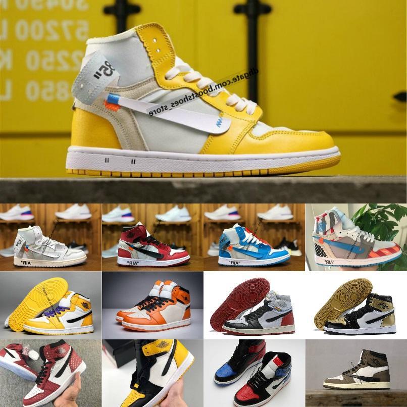 2020 Nuevo estilo caliente Scotts X1 alta OG Mediados Basketsball Zapatos Real Banned Bred fuera 1s Negro Blanco Nuevo hombres de color para la reventa de 40 ~ 46