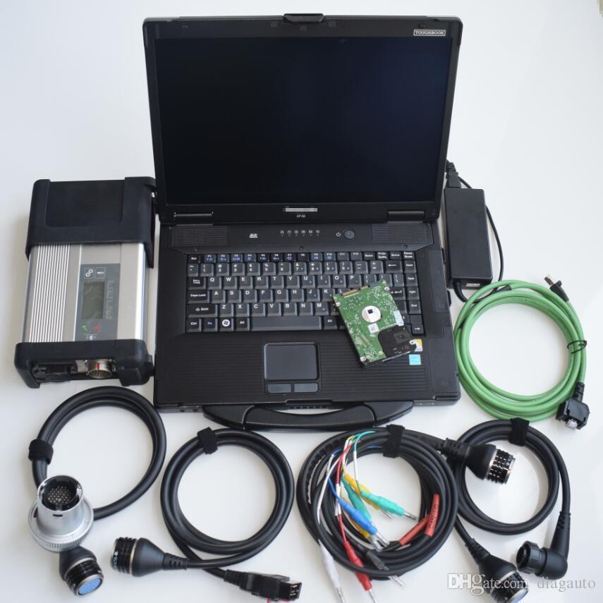 Super MB Star C5 SD Conenct avec ordinateur portable CF52 Toughbook PC Diagnostic avec MB STAR C5 DERNIER SOFT-WARE V2021.03 HDD pour SD C5