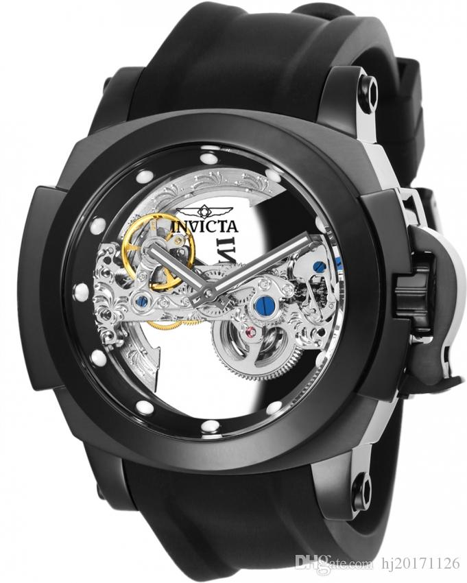 Invicta Men's Watch Coalition Forces China Automatic Movement 48mm Stainless Steel Case Silicone Band Model No.24707 For Dropshipping