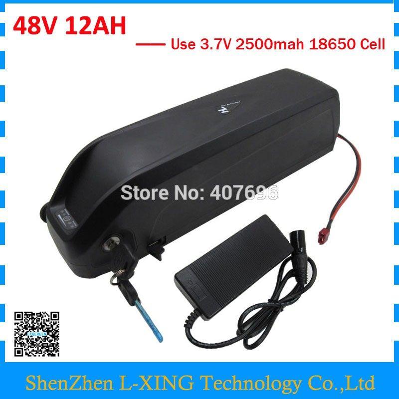 48 В вниз трубки Hailong аккумулятор 48 В 12Ah 500 Вт Ebike литий-ионный аккумулятор 48 Вольт с USB-портом Бесплатная таможенная пошлина с 2A зарядное устройство