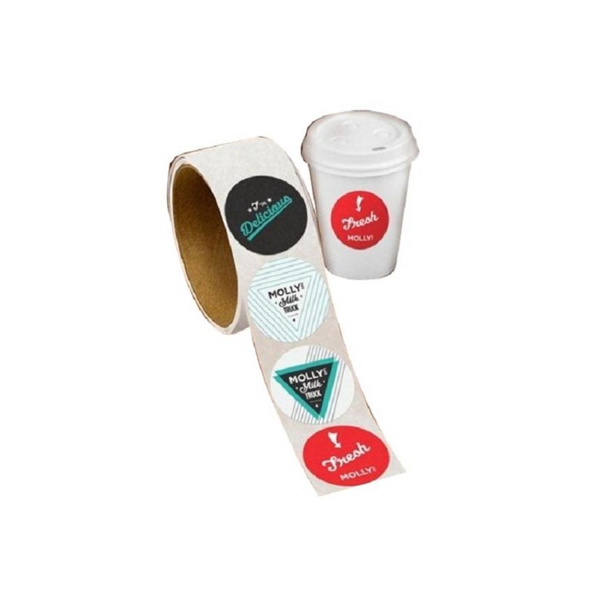 Оптовая продажа производителей Пользовательские полноцветные виниловые наклейки вырезать, самоклеясь печать лейбла
