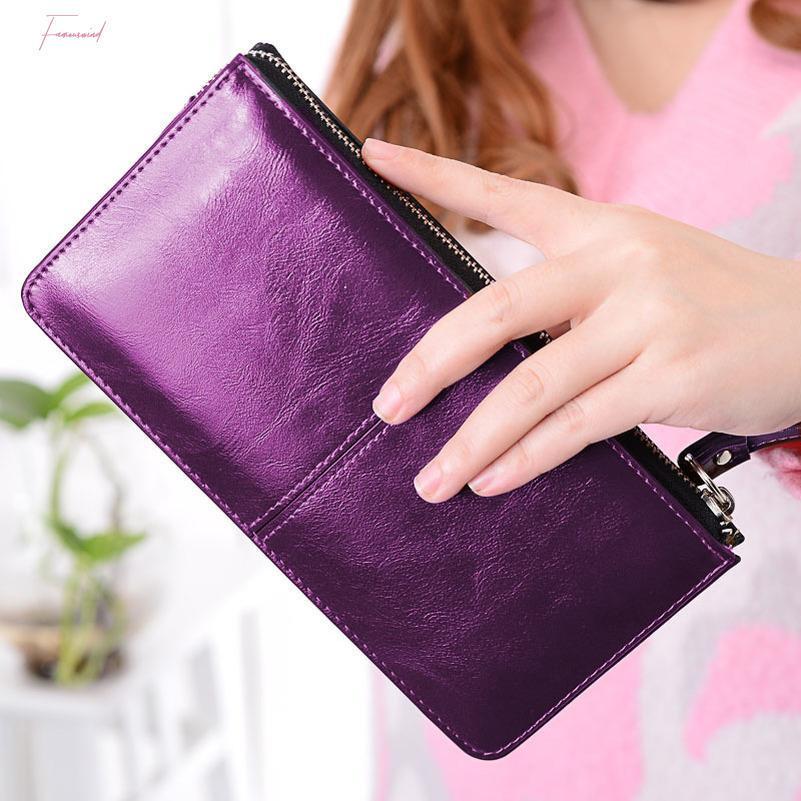 Monnet Cauthy Femmes Wallet Concise classique Loisirs Mode Bonbons Couleur Rouge Jaune Violet Ciel Bleu Lady Organisateur long Portefeuilles