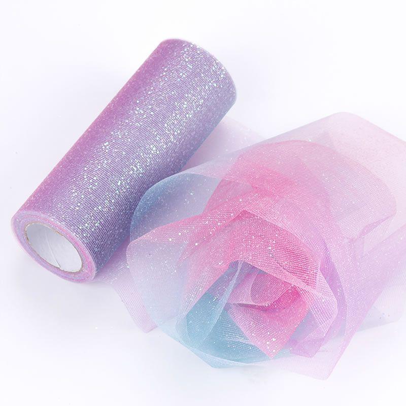 15 centímetros * fio de cintilação de 10 jardas para a fase de festa em casa casamento decoração iridescência gaze DIY grenadine vestido