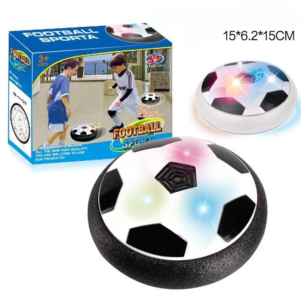 키즈 에어 파워 축구 훈련 장비 재미 있은 LED 빛 번쩍이는 공 장난감 축구 공 디스크 활공 다중 표면 유혹