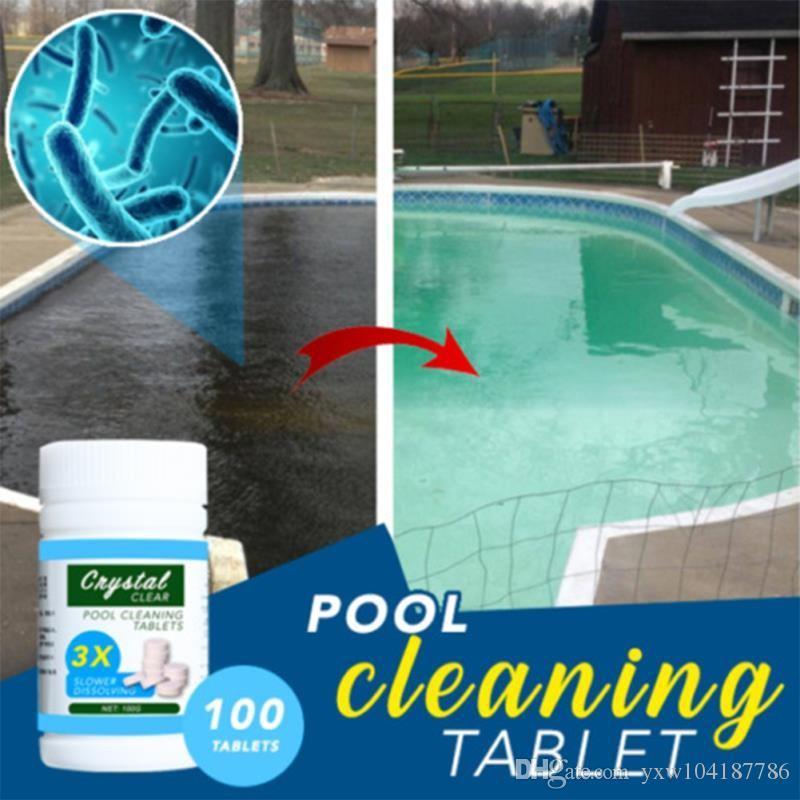 Magia limpeza de piscinas Tablet Crystal Clear Piscina Tablets Limpar Balance Pool Maintenance Tablets Efetivamente natação Cleaner
