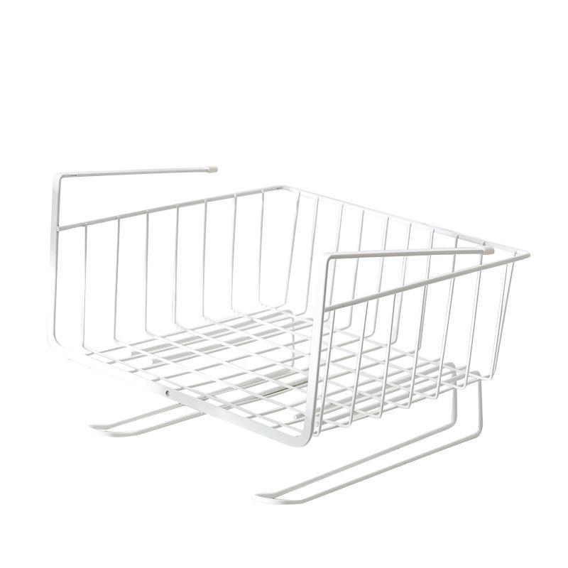 Armario de almacenaje del organizador del metal atormentan Acabado del gabinete de cocina bajo el estante del compartimiento Colgando de almacenamiento en rack montado en la pared Basket