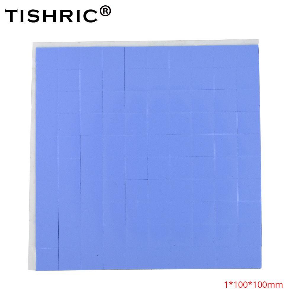 TISHRIC 컴퓨터 PC 냉각 팬 팬 팬 쿨러 GPU CPU 열 패드 1mm 전도성 실리콘 패드를 냉각 히트 싱크 히트 싱크