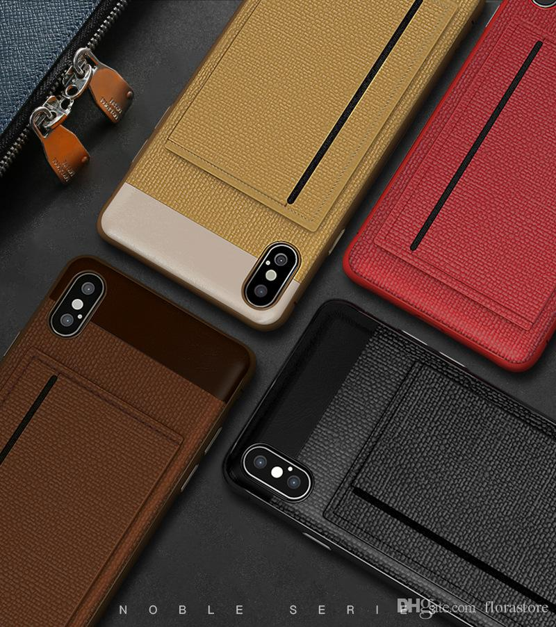 Custodia per il telefono cellulare della carta di credito dell'unità dell'unità dell'unità dell'unità dell'unità dell'Unnout per iPhone 7 7Plus 8 x XR Max 11 Pro