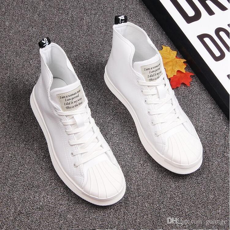 Sneaker Automne côté haut en toile Casual Boots lacées Nouveau Chaussures Couture simple Bottes Groom Chaussures de mariage E138