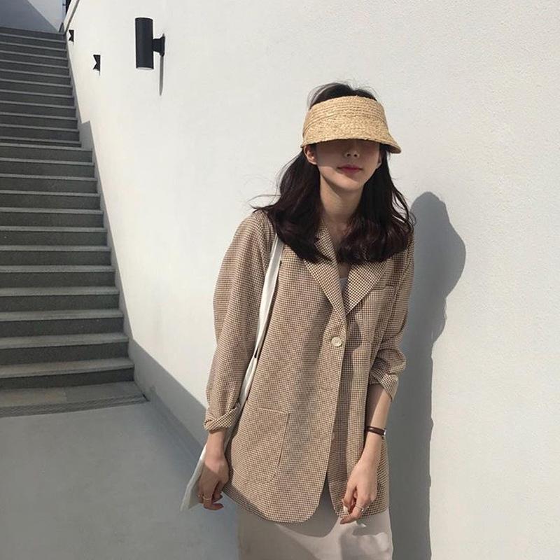Lafite geflochten Ente oben Strohhut leer Strohhut Zunge faltbar Temperament koreanischen Stil in Sonnenschutz Urlaub Strand Allgleiches
