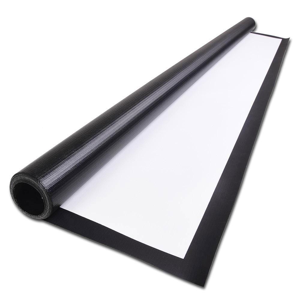 Pantalla de proyección portátil plegable 100 pulgadas LED halo blanco / gris de la tela de fibra de vidrio para pantallas de proyección montado en la pared Películas de cine en casa
