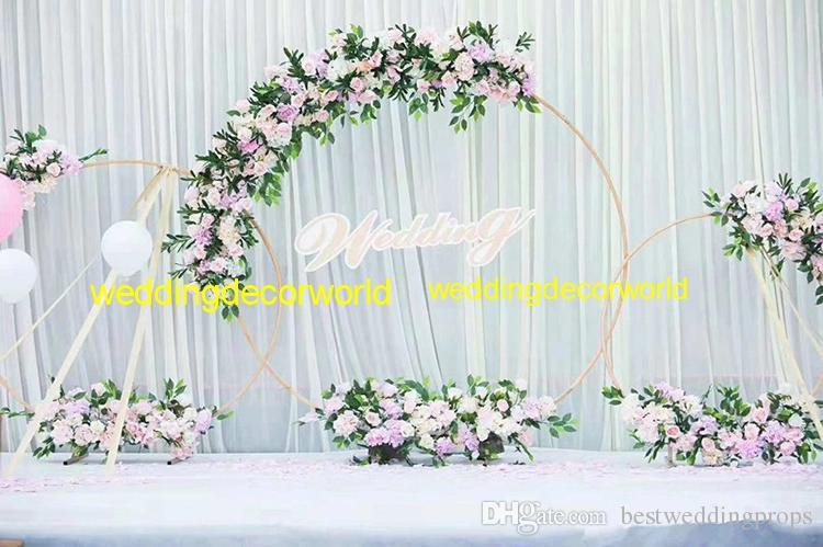 Neue Art, die dekorative hohle Geistesgoldblumenstandpfosten best01166 Innen- und im Freien wedding ist