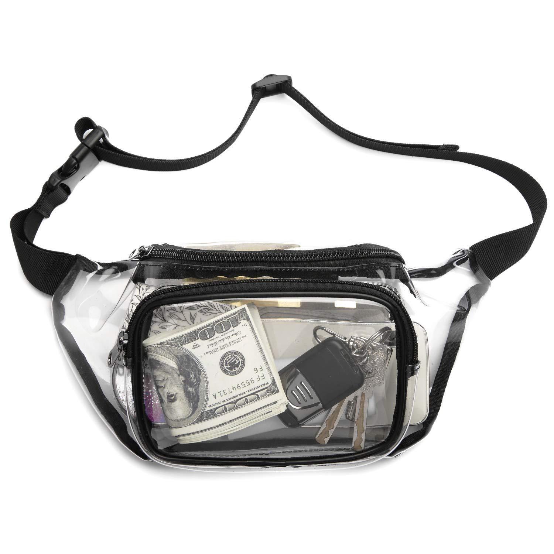 2019 최신 경기장 명확한 PVC Bumbag 크로스 바디 어깨 가방 투명 허리 가방 기질 Bumbag 크로스 패니 팩 범 허리 가방 선물
