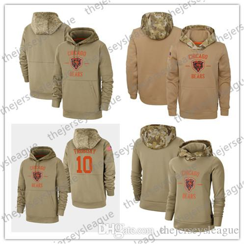 2020 Men Women Youth Chicago Sweatshirt Bears 2019 Salute to Service Sideline Therma Performance Pullover Hoodie