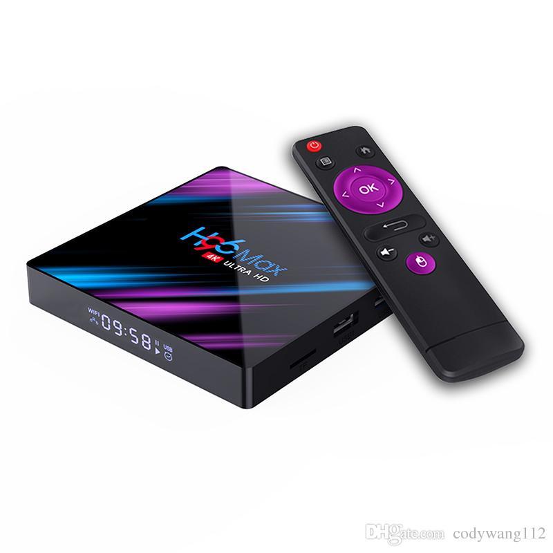 جديد Arrvial H96 Max Android 10.0 TV Box RK3318 4GB 32GB المزدوج واي فاي بلوتوث 4K الوسائط مشغل