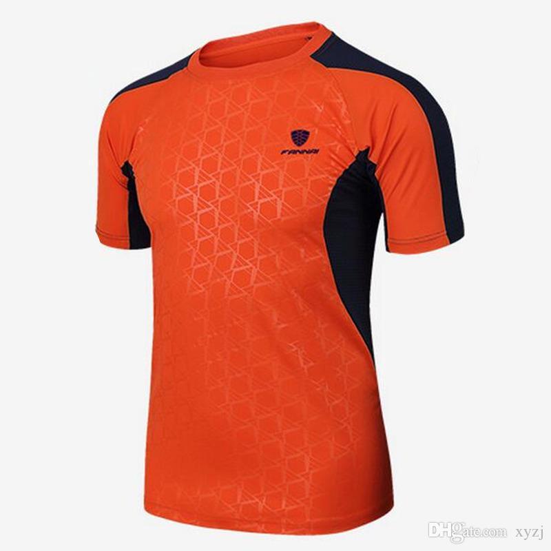 Venta caliente de Los Hombres Camisetas de Manga Corta Camisa de Tenis Deportes Al Aire Libre Correr Entrenamiento Correr Ropa Fitness Tees Badminton Masculino Tops