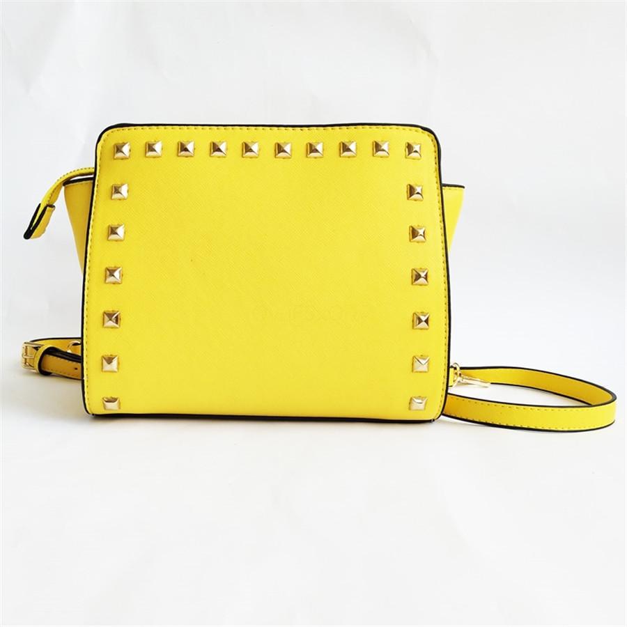 Mulheres Handbag Bolsa de Ombro Rivet Braccialini bolsa Sac A principal Borse Di Marca Bolsa Feminina Shoulder Bag mulheres sacos Designer 689 # 917