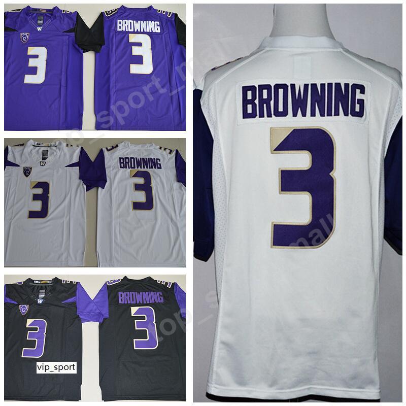 2021 Jake Browning Jersey 3 Men NCAA Football College Washington ...