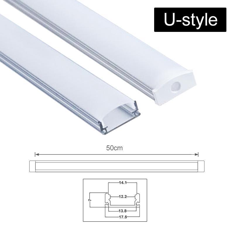 Geniş Led Şerit Işık Bar Dolap Altı Lambası Mutfak 1 .8cm Jk0002a İçin Üç Stil 50cm Alüminyum Kanal Tutucu