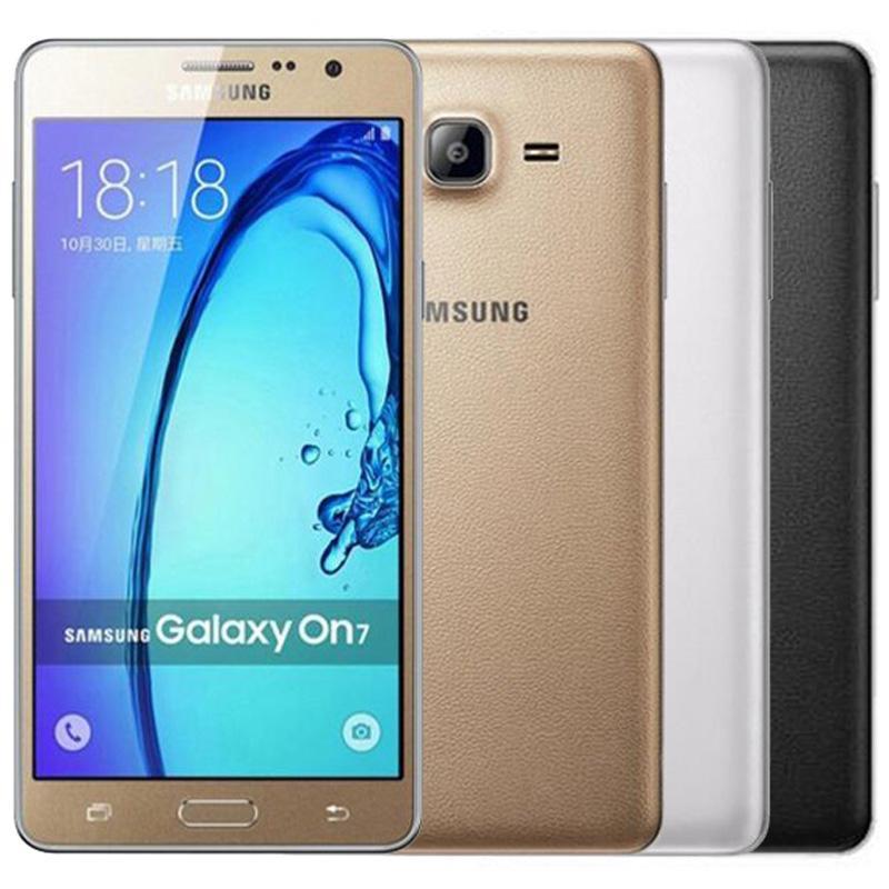 Remis à neuf d'origine Samsung Galaxy ON7 G6000 Dual SIM 5,5 pouces Quad Core RAM 1,5 Go 8 Go / 16 Go ROM 13MP 4G LTE mobile Téléphone cellulaire gratuit DHL 5pcs