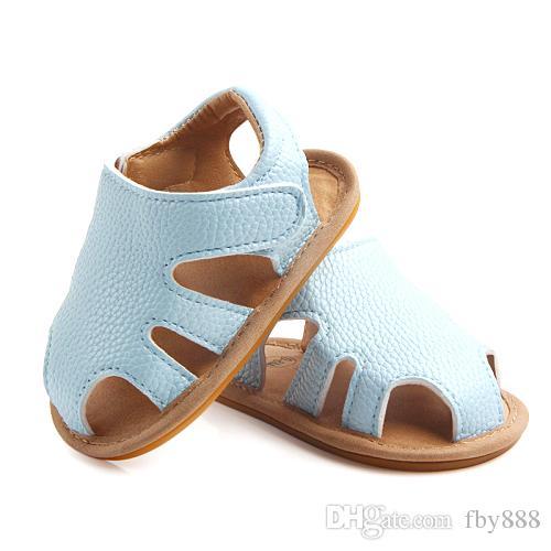 Baby Boy Sandals PU girls PreWalkers Infant summer cool crib shoes