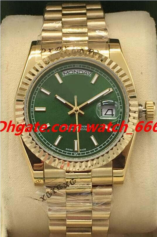 New Version Luxury Watch 8 Style 18K Yellow Gold 118208 118238 Warranty Index Dial 36mm Steel Fluted Automatic Fashion Men's Watches