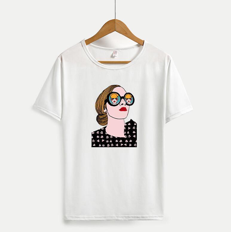 사랑스러운 패턴 새로운 패션 짧은 소매 남성 티 셔츠와 캐주얼 남성 여성 T 셔츠 4 색 옵션 탑