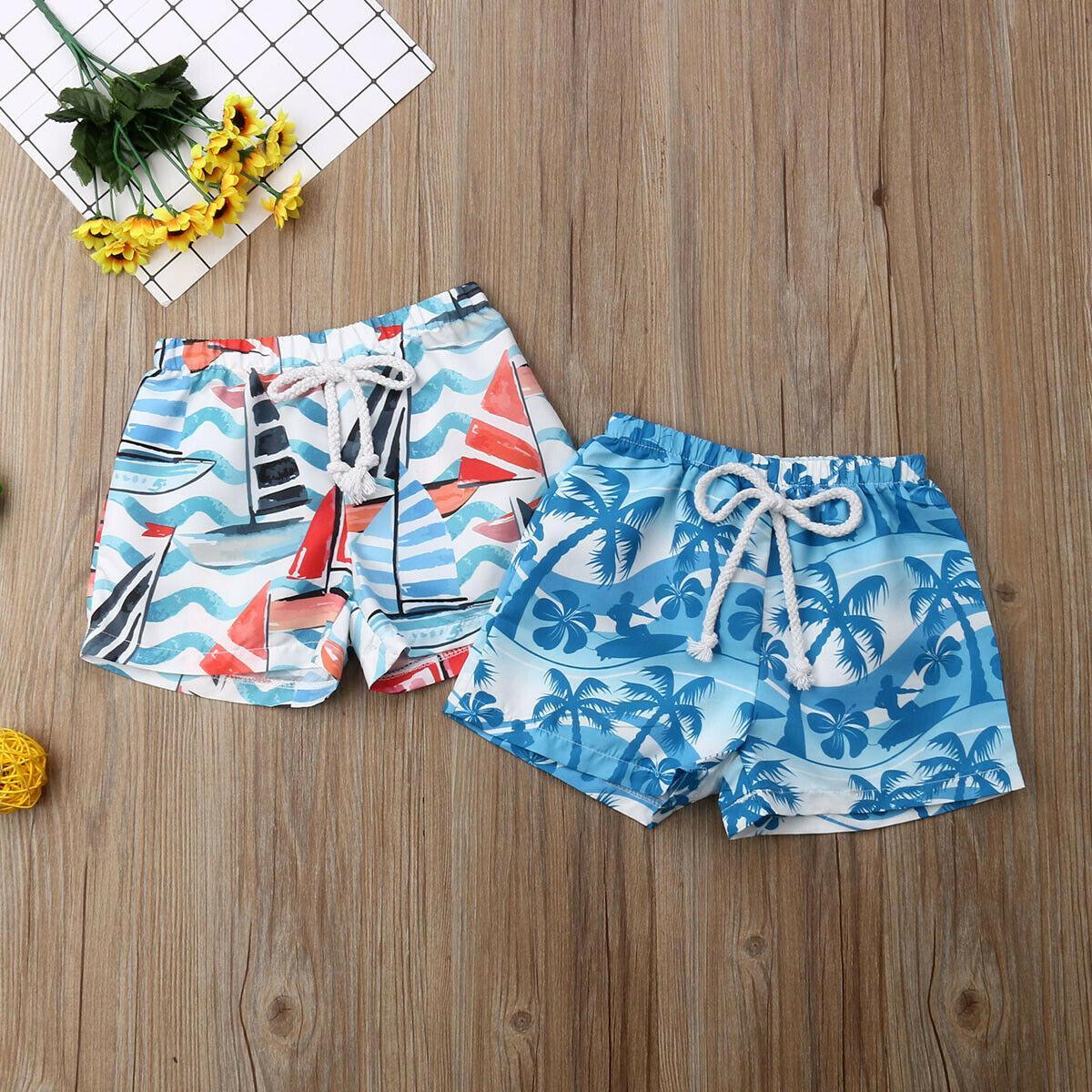 Bebê menino Hawaii Elastic Cintura Calças Curtas Verão Praia Shorts Swimwear Beachwear Maiô para Criança criança Crianças