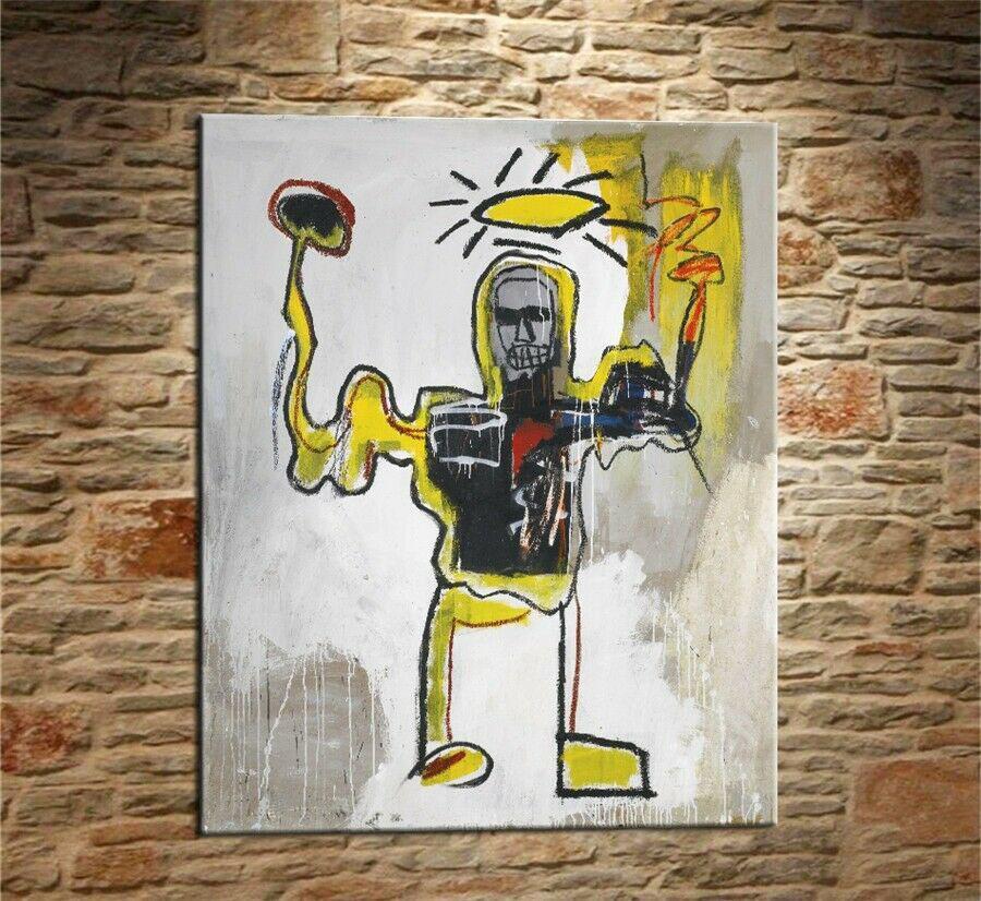 Arte Jean Michel Basquiat Graffiti # 106 Decoración Artesanías / impresión de HD pintura al óleo sobre lienzo arte de la pared de la lona representa 200310