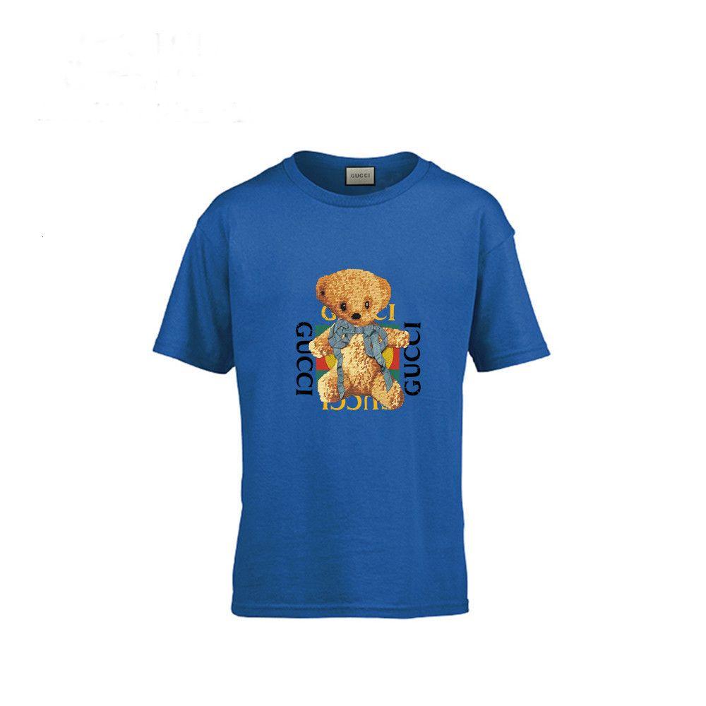 Ours T mignon T-shirt en coton pur Pretend fille garçons vêtements pour enfants Les enfants à manches courtes talonnage Chemisier