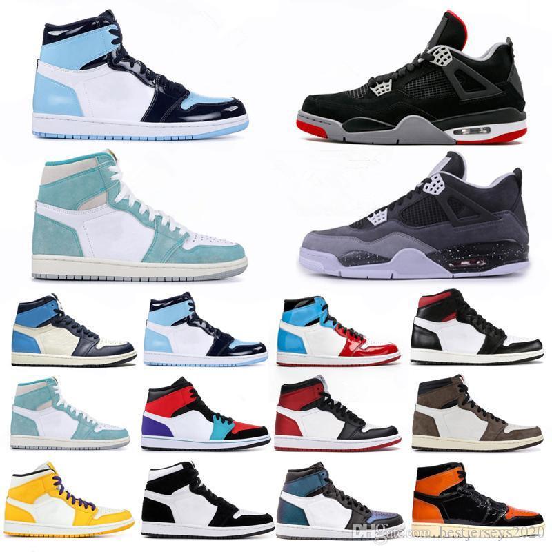 4 4s Cemento Negro Lo que el 1 1s Zapatos Travis Scotts gris para hombre de baloncesto UNC Bred 11 11s Concord Hombres Deportes zapatillas de deporte