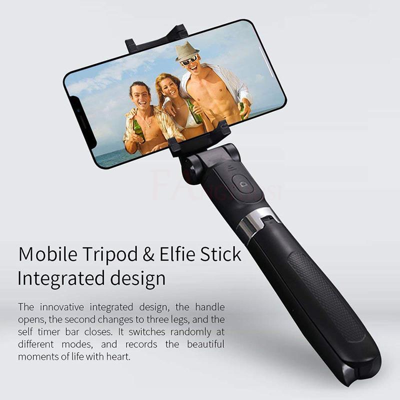 3 в 1 Беспроводной Bluetooth Selfie Stick Mini Stripod Расширяющийся монопод Универсальный для iPhone 11Pro Max XR X 7 Plus Samsung Huawei 52