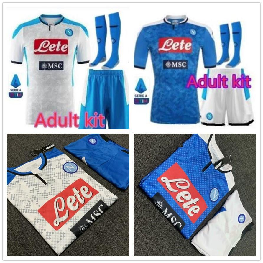 2020 Men Naples Jerseys Kit 2019 2020 Napoli Home Away Soccer Jerseys Kit Napoli Blue Football Jerseys Shirt 19 20 Lozano Hamsik Insigne From Chenjingxiong 19 18 Dhgate Com
