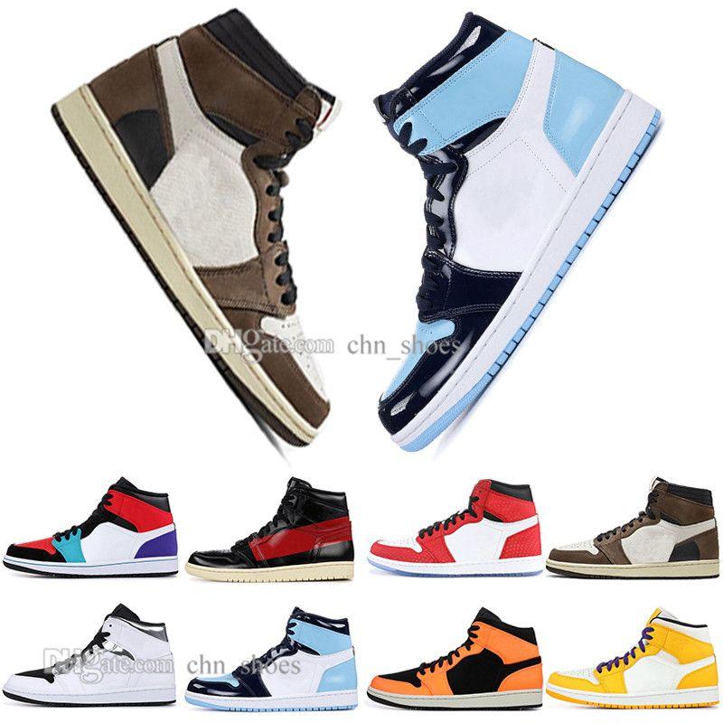 2019 1 Alta OG Travis Scotts Spiderman Chicago UNC Uomini donne Scarpe Da Basket Omaggio A Casa Royal Blue Ragazzi Uomini Sport Designer Sneakers