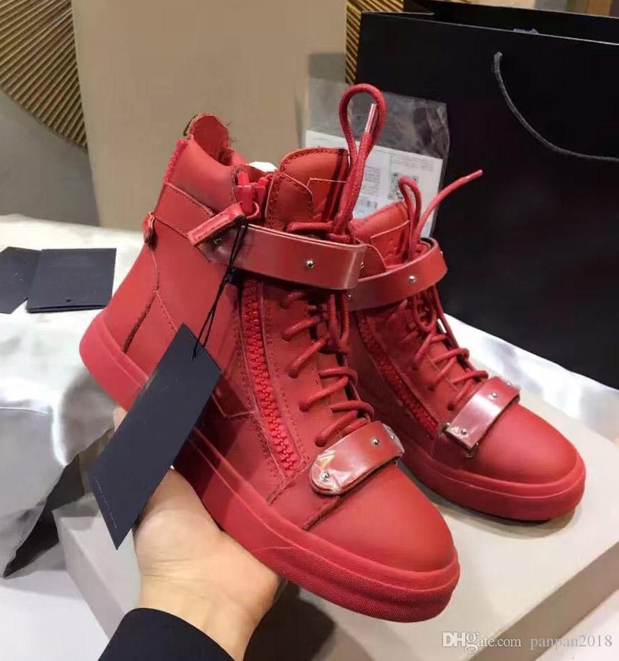 New Famous Fashion Echtes Leder Schuhe Männer Freizeitschuhe hohe qualität Top Brand Designer Wohnungen Männer und Frauen schuhe 35-45