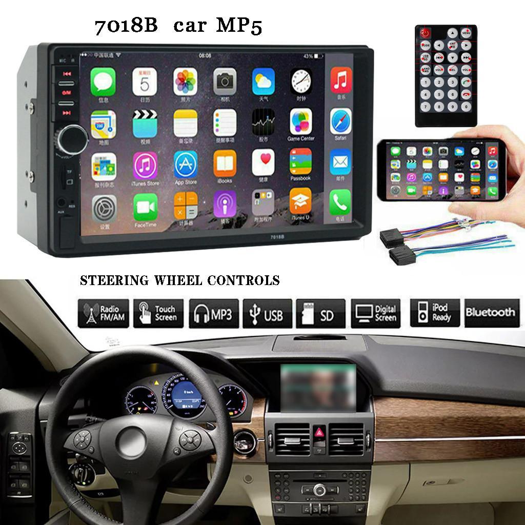 7 pulgadas de pantalla doble 2 Din Car Stereo MP5 control del volante de radio FM