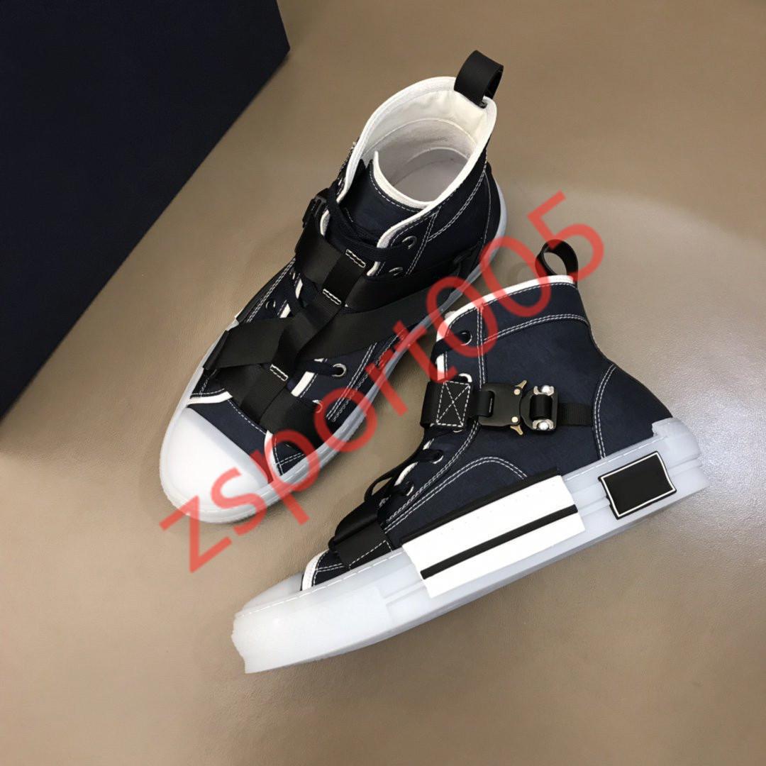 Dior Designer Scarpe Uomo Donna tecnico Knit Canvas Sneaker alta fibbia Dettagli Bianco e nero suola in gomma B23 Logo del marchio di scarpe New Style