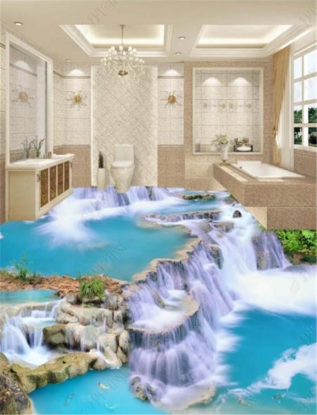 3d wallpaper das paradies wasserfall in der welt 3d wohnzimmer schlafzimmer boden mural wallpaper