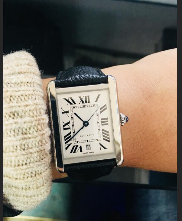 Vente chaude Automatique Silver Man Watch Case Mode White Gratuit Dial Watch 052-2 Mouvement Nouveau Montres Luxury Shippings MSNOK
