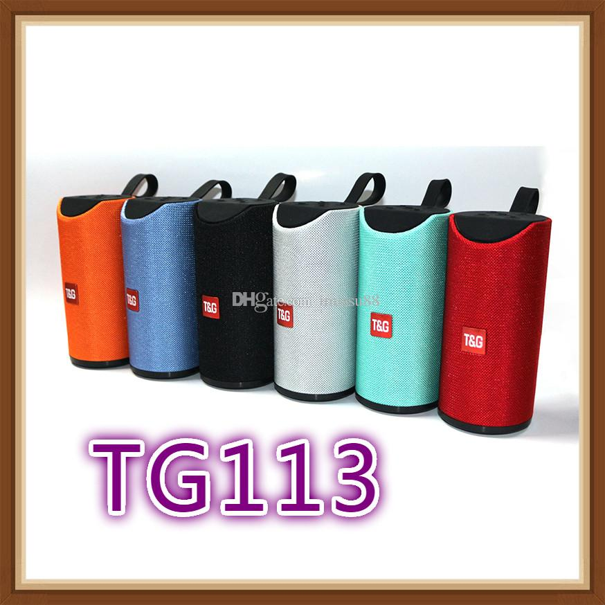 TG113 Hoparlör Bluetooth Kablosuz Hoparlörler Subwoofers Handsfree Çağrı Profil Stereo Bas Desteği TF USB Kartı Aux Hattı Hi-Fi Yüksek Olarak