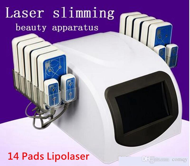 14 Pads Diode Lipo Laser LLLT Fat Burning Anti-Cellulite Body Sculpting Weight Loss Beauty Slimming Machine Spa
