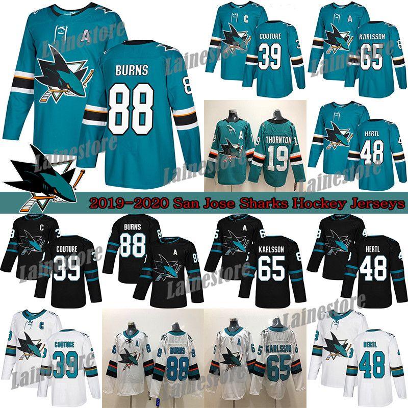 سان خوسيه أسماك القرش 88 برنت بيرنز 65 إريك كارلسون 19 ثورنتون 9 Evander Kane 48 Hertl Green Hockey Jerseys