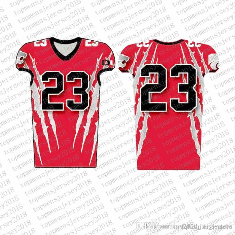 Top Custom Football Jerseys Mens Stickerei Logos Jersey Freies Verschiffen billig Großhandel jeder Name eine beliebige Anzahl Größe S-XXXL08888