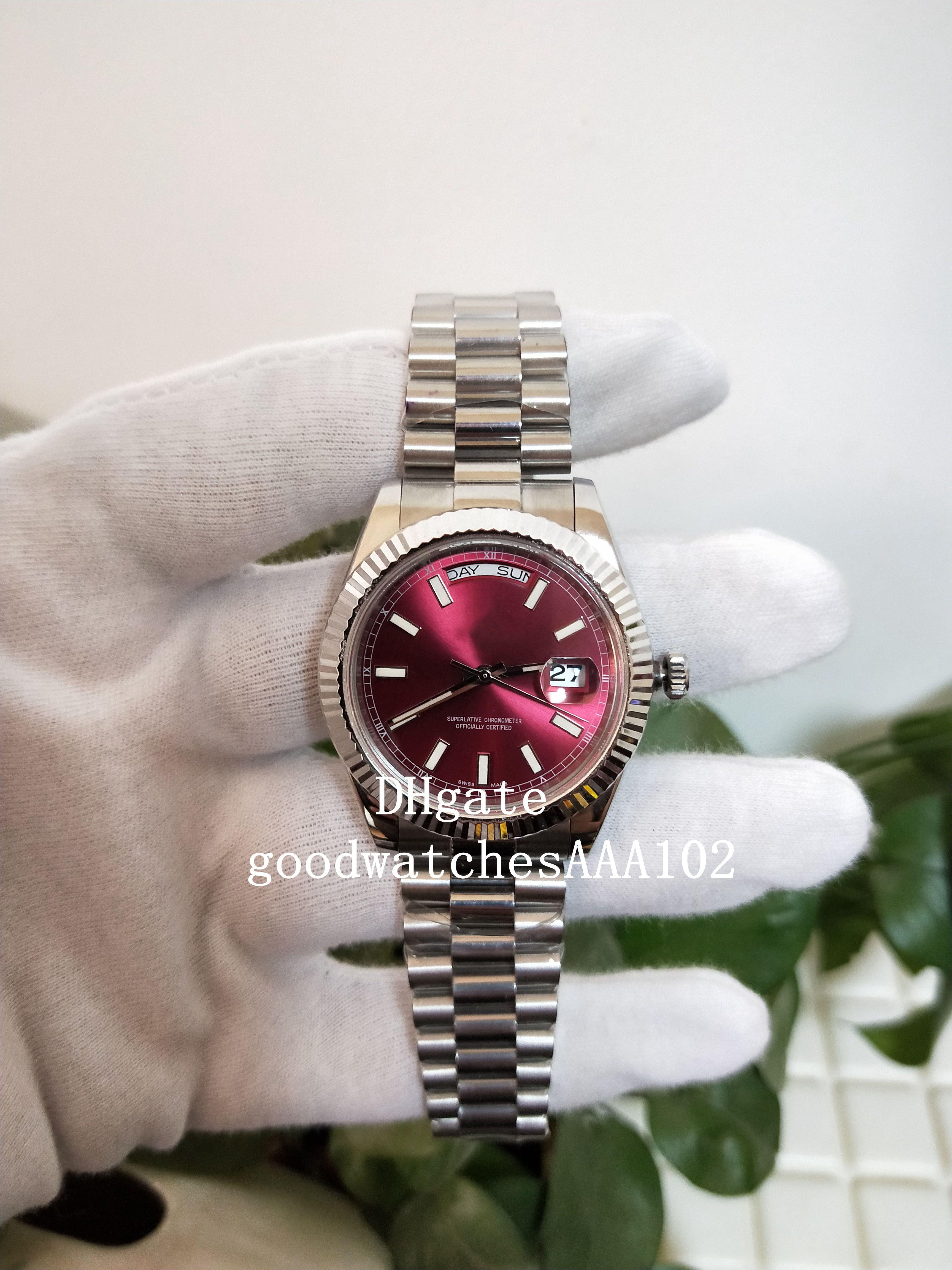 Homens Series de relógio clássico Relógios Datejust BP 2813 40 milímetros 36 milímetros Red Dial Sapphire 126333 228238 Excelente Mens Automatic Watch Watches