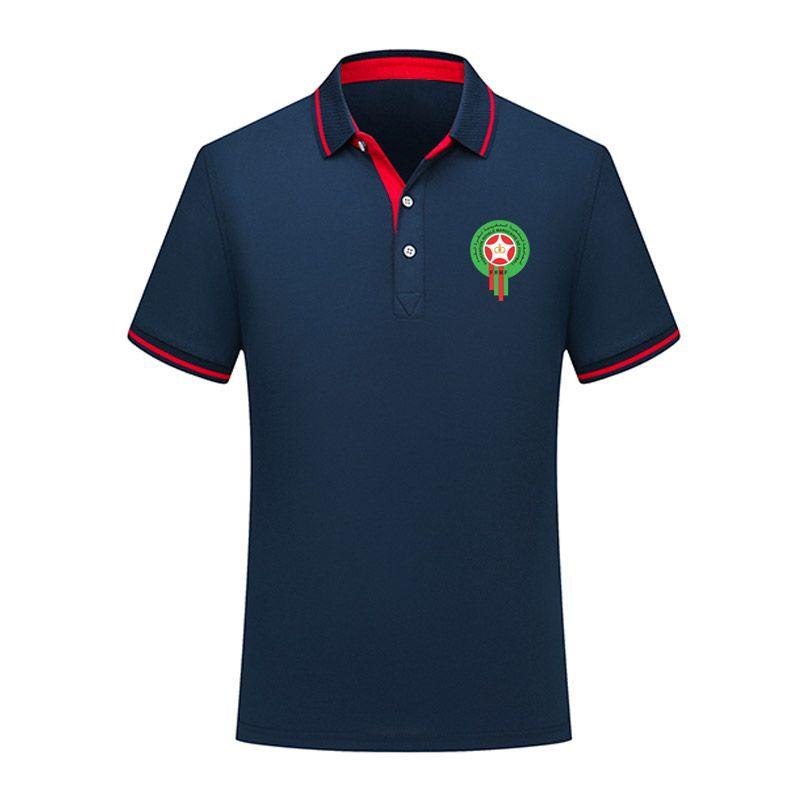 Дизайнер Марокко весна и лето Новый хлопчатобумажная рубашка поло с короткими рукавами с короткими рукавами нересекс поло
