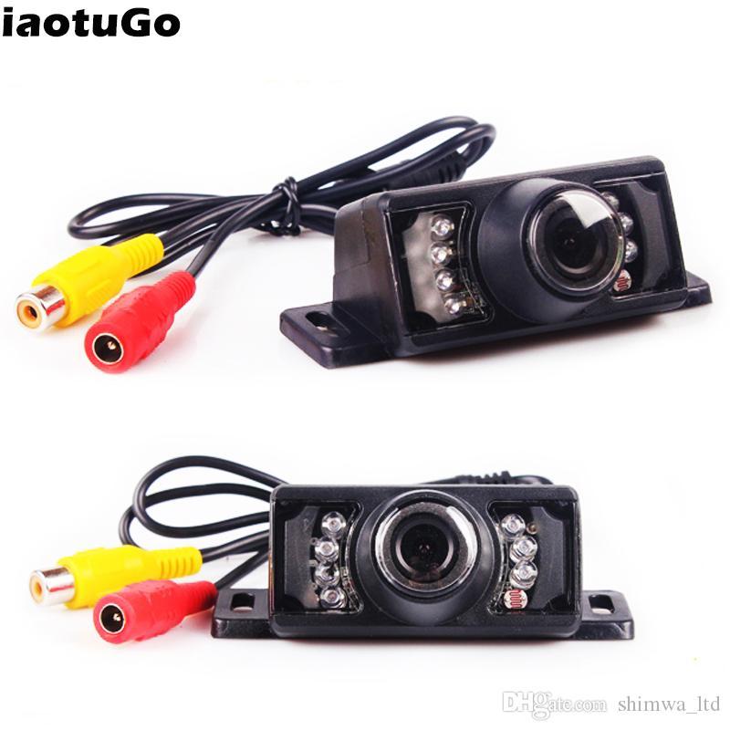 Wholesale 7 IR LED Car Rear view car reverse camera Night Vision HD 140 Angle Lens Waterproof(Optional Monitor/Rear Mirror)