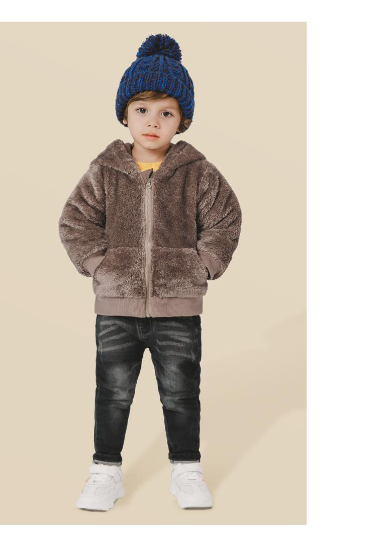 Toddler Infant Outfits 2019 Autumn Winter New Wool Coat for Girls Baby Boys Winter Jackets Kids Hooded Casual Outwear Wool Coat