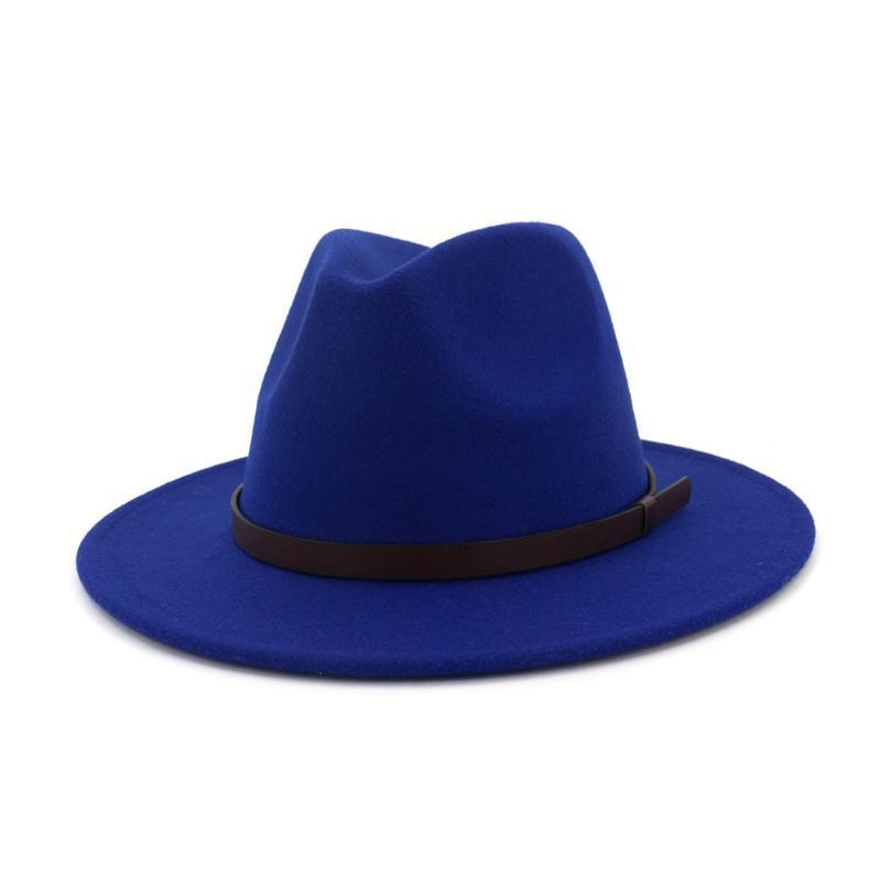 2020 الخريف والشتاء جديد الرجال الصوفية الجاز قبعة قبعة الفن الرجعية الأزياء والنساء البرية الكلاسيكية
