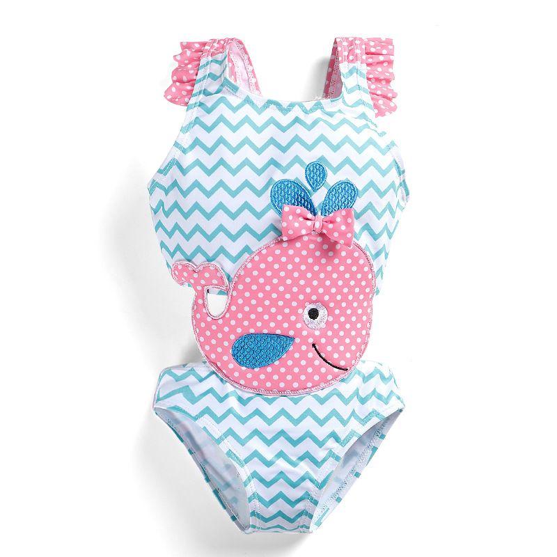New 2019 Cute Kids Swimwear One-piece Girls Swimsuit Kids Swim Suits Girls Summer Bikini Kids Bathing Suits Child Sets Beachwear Z11