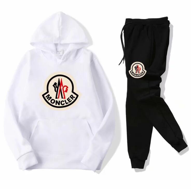 Sıcak satış marka seti Eşofman Erkekler hoodies eşofman + pantolon Erkek Giyim Sweatshirt Kazak kadınlar Casual Tenis Spor Eşofman Eşofman
